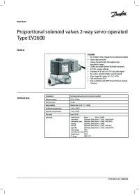 Data Sheet Proportional solenoid valves 2-way servo-operated Type EV260B.pdf
