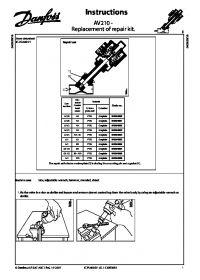 Інструкція AV210 - Replacement of repair kit (instructions).pdf