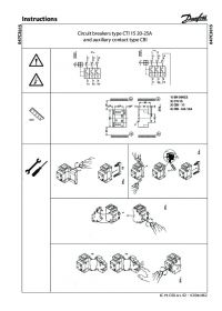 Instructions Circuit breakers type CTI 15 20-25A and auxiliary contact type CBI (Інструкція).pdf