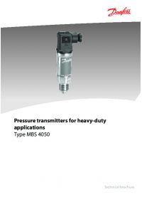 Pressure transmitters for heavy-duty applications type MBS 4050.pdf