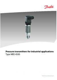 Technical brochure pressure transmitters for industrial applications type MBS 4500 (Технічна брошура).pdf