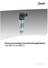 Technical brochure pressure transmitters for industrial applications type MBS 32 and 33 (Технічна брошура).pdf
