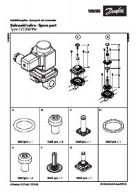 Керівництво по монтажу Solenoid valve - Spare part Type EV250B-BW (Installation Guide).pdf