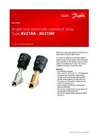 Data Sheet Angle-seat externally operated valve Type AV210A -AV210H.pdf