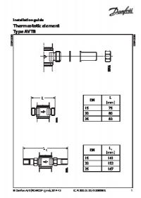 Керівництво по монтажу Thermostatic element Type AVTB (Installation Guide).pdf