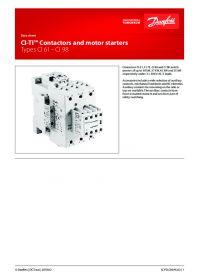 Data sheet CI-TI Contactors and motor starters Types CI 61 - CI 98 (Технический паспорт).pdf