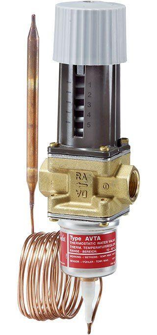 AVTA, Клапани з керуванням від термореле з температурно-чутливим датчиком